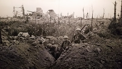 Trincheira da 1ª guerra. A guerra dos primos