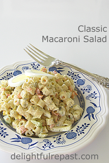 Classic Macaroni Salad (THE best because of my mother's secret) / www.delightfulrepast.com