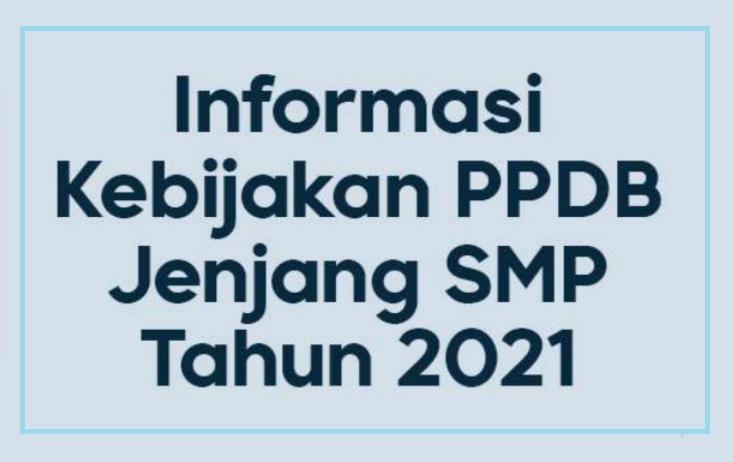 gambar buku saku ppdb smp tahun 2021