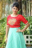 Lucky Shree Looks super cute in Bright Red Green Anarkali Dress ~  Exclusive 046.JPG