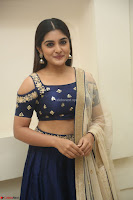 Niveda Thomas in Lovely Blue Cold Shoulder Ghagra Choli Transparent Chunni ~  Exclusive Celebrities Galleries 033.JPG
