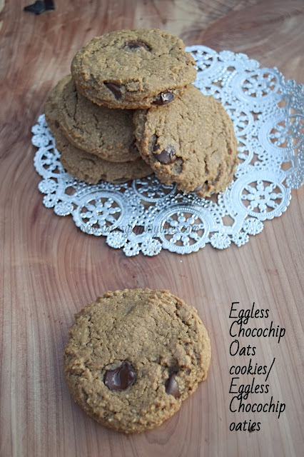 Eggless Chocochip Oats cookies/ Eggless Chocochip oaties
