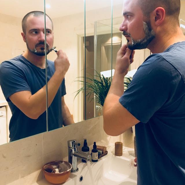 Metall barberhøvel til plastfri barbering