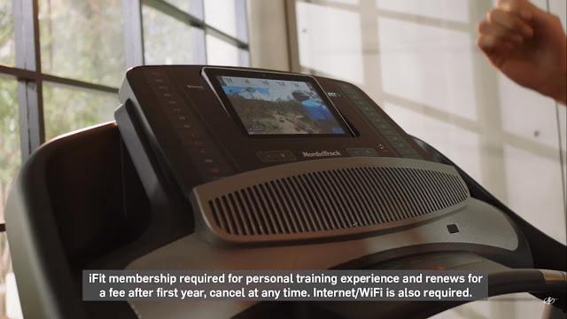 โปรแกรม iFit บนลู่วิ่งไฟฟ้า NordicTrack Commercial 1750