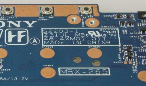 MBX-265 SONY SVT131B11W Laptop Bios