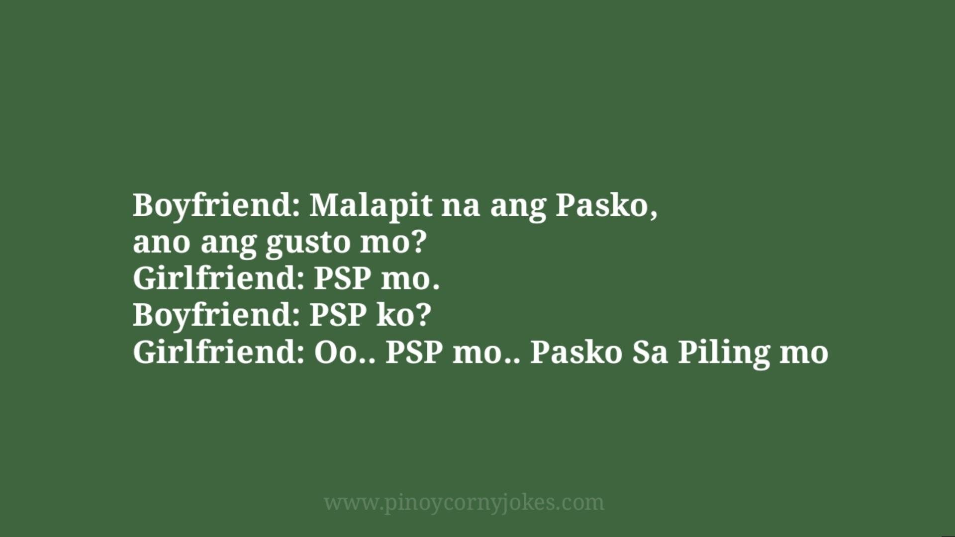 malapit na pasko gf bf tagalog jokes