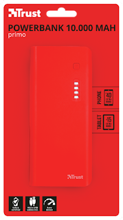 trust power bank caricabatterie portatile 10000mah