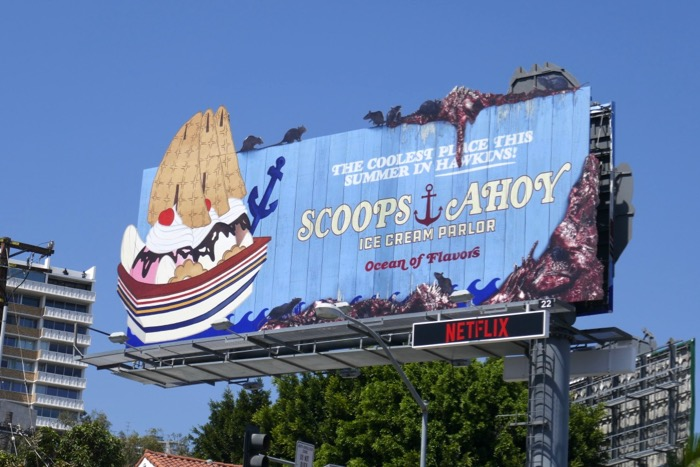 Stranger Things 3 Scoops Ahoy billboard