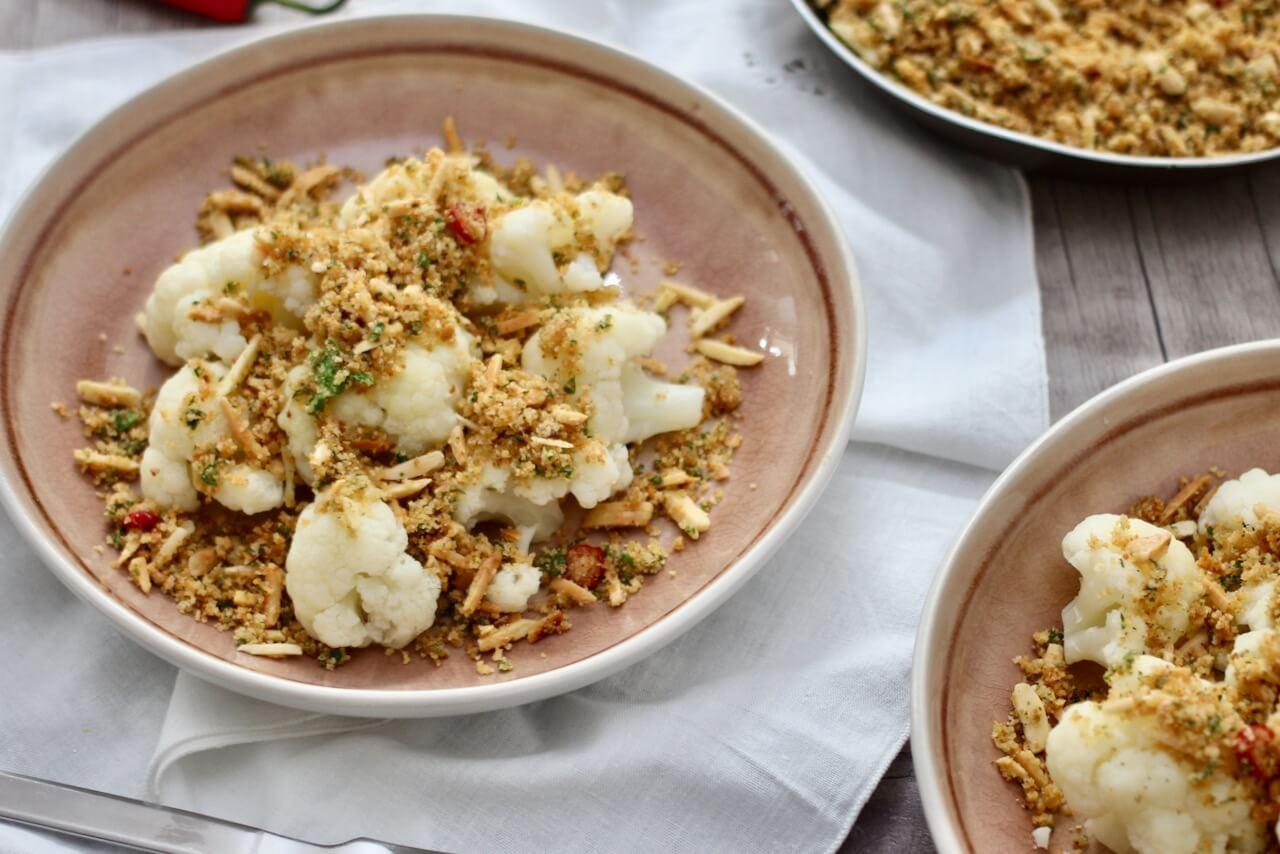 Blumenkohl in Zitronen-Butterbröseln