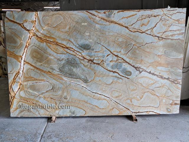 Stone wood quartzite for kitchen countertop