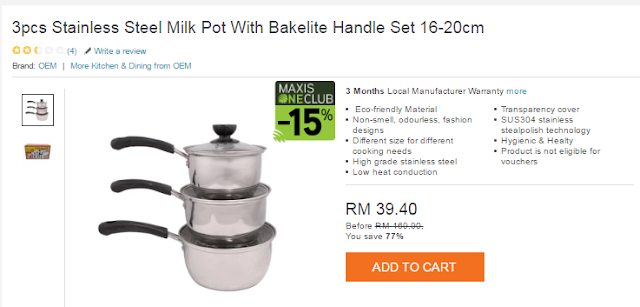 Stainless Steel Milk Pot With Bakelite Handle di Lazada, Shopping Online,