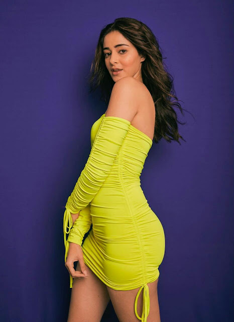 Ananya Pandey HD Wallpaper in Yellow Dress