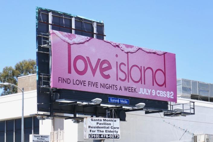 Love Island CBS series billboard