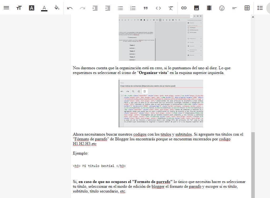 Usar Formato de Párrafo en Blogger