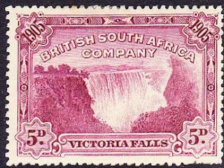 Rhodesia 1905 5d Victoria Falls