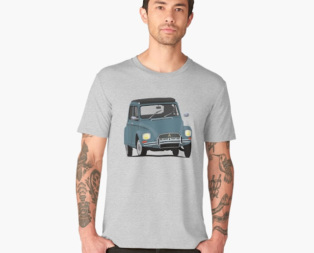 CItroën Dyane - sixties classic car - T-shirt blue