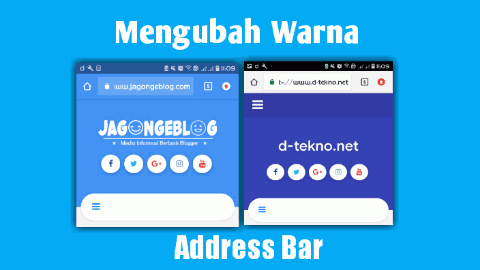 cara mengubah warna address bar