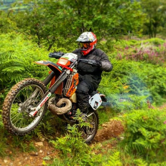 Noel on his KTM200EXC