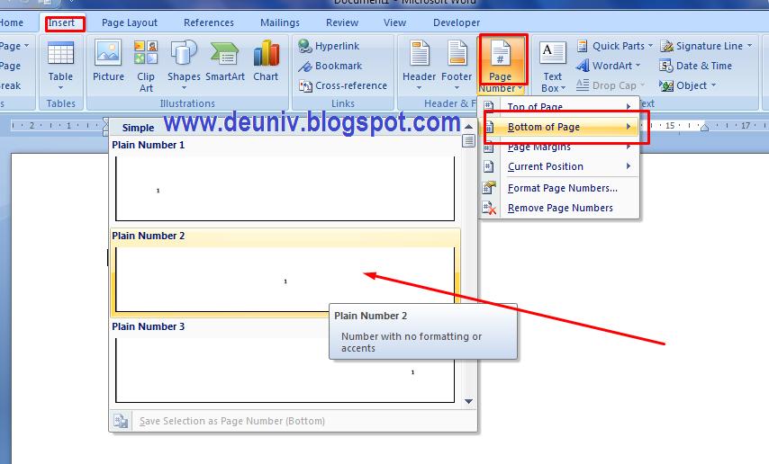 Membuat Format Halaman Berbeda Pada Satu File Word Deuniv