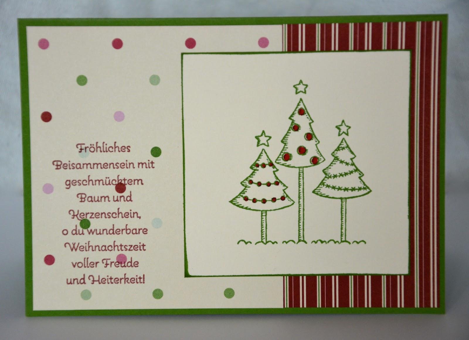 stempelsee die ersten weihnachtskarten. Black Bedroom Furniture Sets. Home Design Ideas