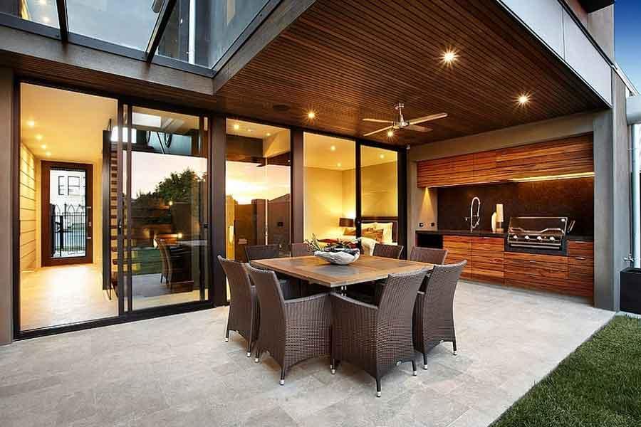 Dekorasi Dapur Terbuka Yang Menyatu Dengan Ruang Keluarga