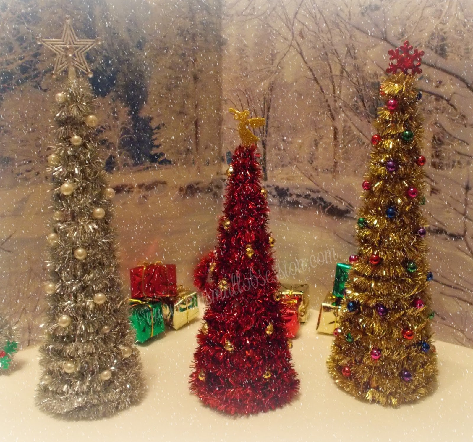 My Small Obsession: Easy DIY Miniature Christmas Trees
