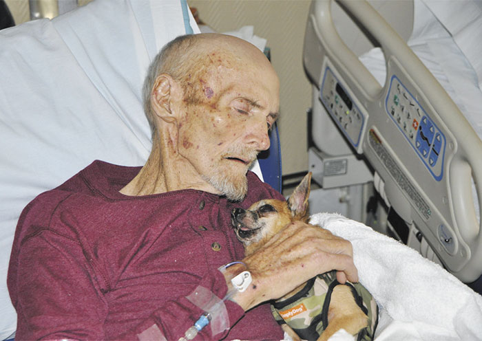36 People's Heart-Breaking Last Wishes - James Wathen Is Reunited With His Dog Bubba One Last Time Before Death