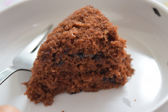 Parle-G-Biscuit-Cake-in-Microwave-Easy-Eggless-Tea-Time-Cake-Magic-of-Indian-Rasoi-Priya R