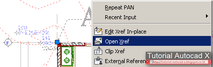 how to bind pdf xref in autocad