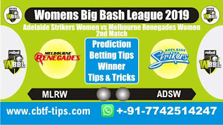 Who will win Today, WBBL T20 2019, 2nd Match ASW vs MRW