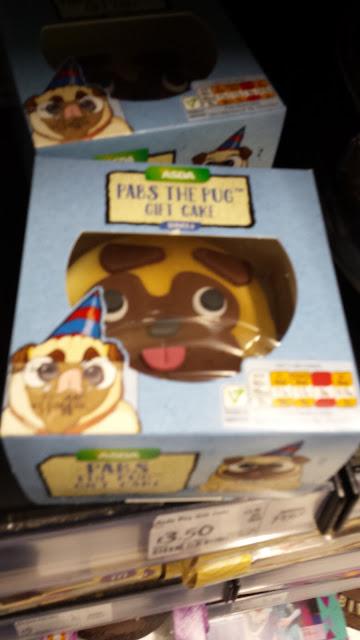 pug mini birthday cake