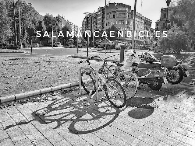 salamanca en bici, salamancaenbici, aparcabicis