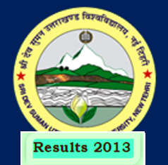 Sridev Suman Uttarakhand University BED Entrance results 2013
