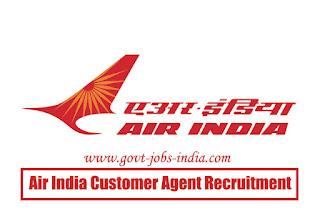 Air India Customer Agent Recruitment 2020