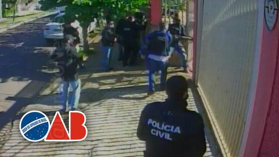 oab abuso operacao policial casa advogada