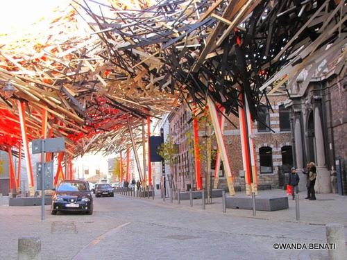Mons, installazione di Arne Quinze