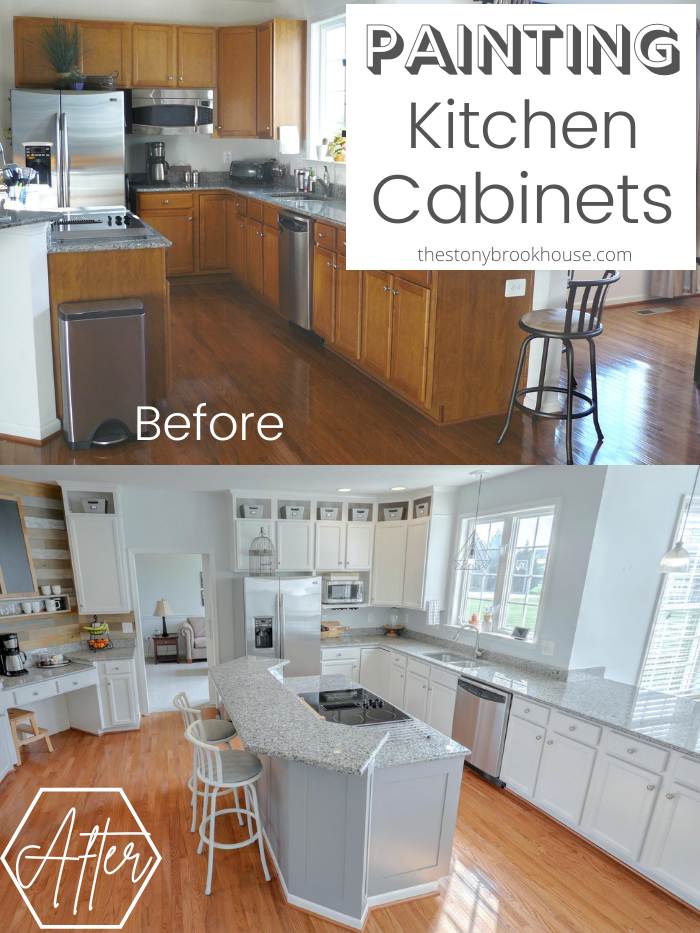 Painting Kitchen Cabinets - Before & After