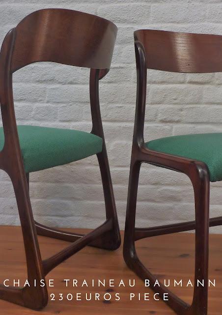 Chaise design Baumann décoration Lille Pevele