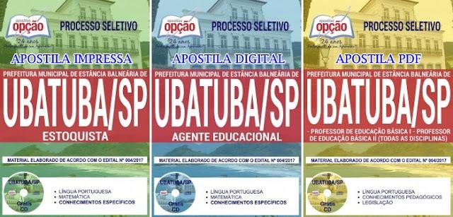 Apostila para o concurso Prefeitura de Ubatuba 2017 (Todas as Disciplinas)