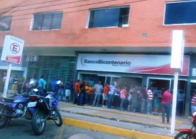 El Viacrucis del efectivo otra vez es el diario sufrimiento de la población Apureña.