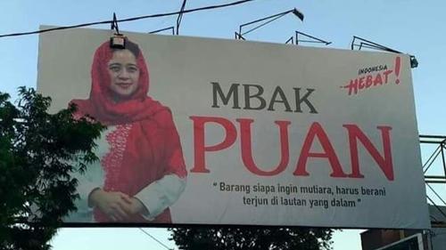 Baliho Puan Indikasi Hubungan PDIP dan Jokowi sedang Renggang