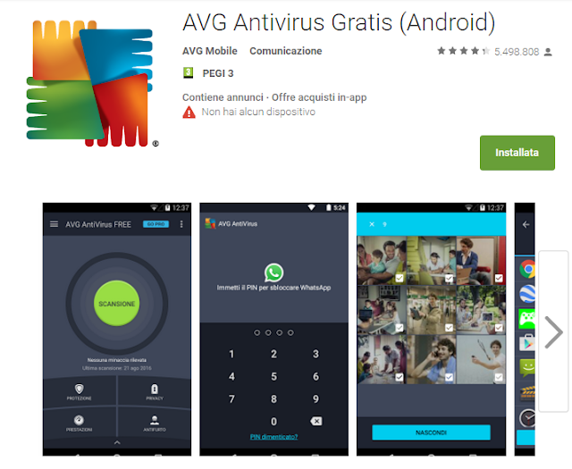 AVG Antivirus Tablet