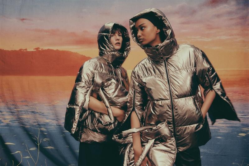 Zara Metallic puffer jacket - Winter 2019 collection