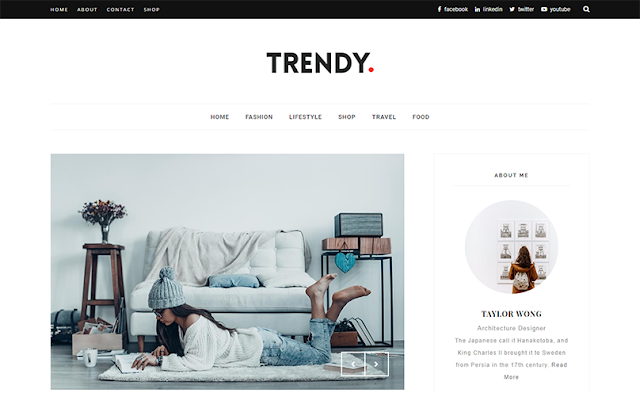 Trendy Blogger Template
