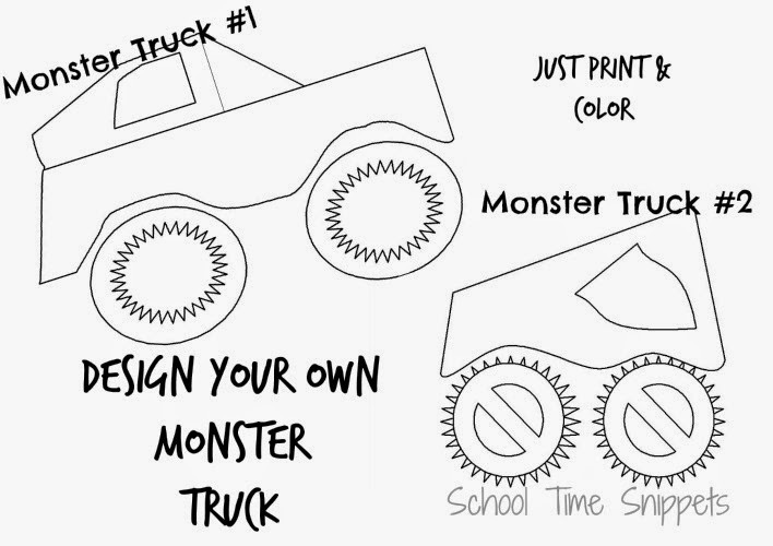 Design Your Own Monster Truck Coloring Page
