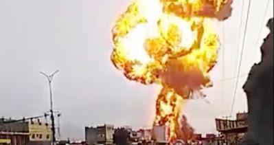 إنفجار محطة وقود في مدينة الحديدة اليمنية
