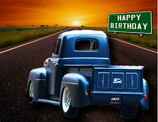 Cards By CG Ford Truck Easel Card