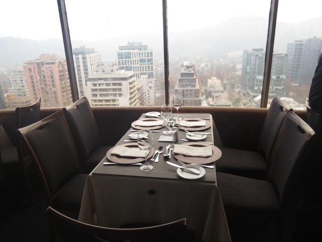 Mesa restaurante giratorio santiago chile
