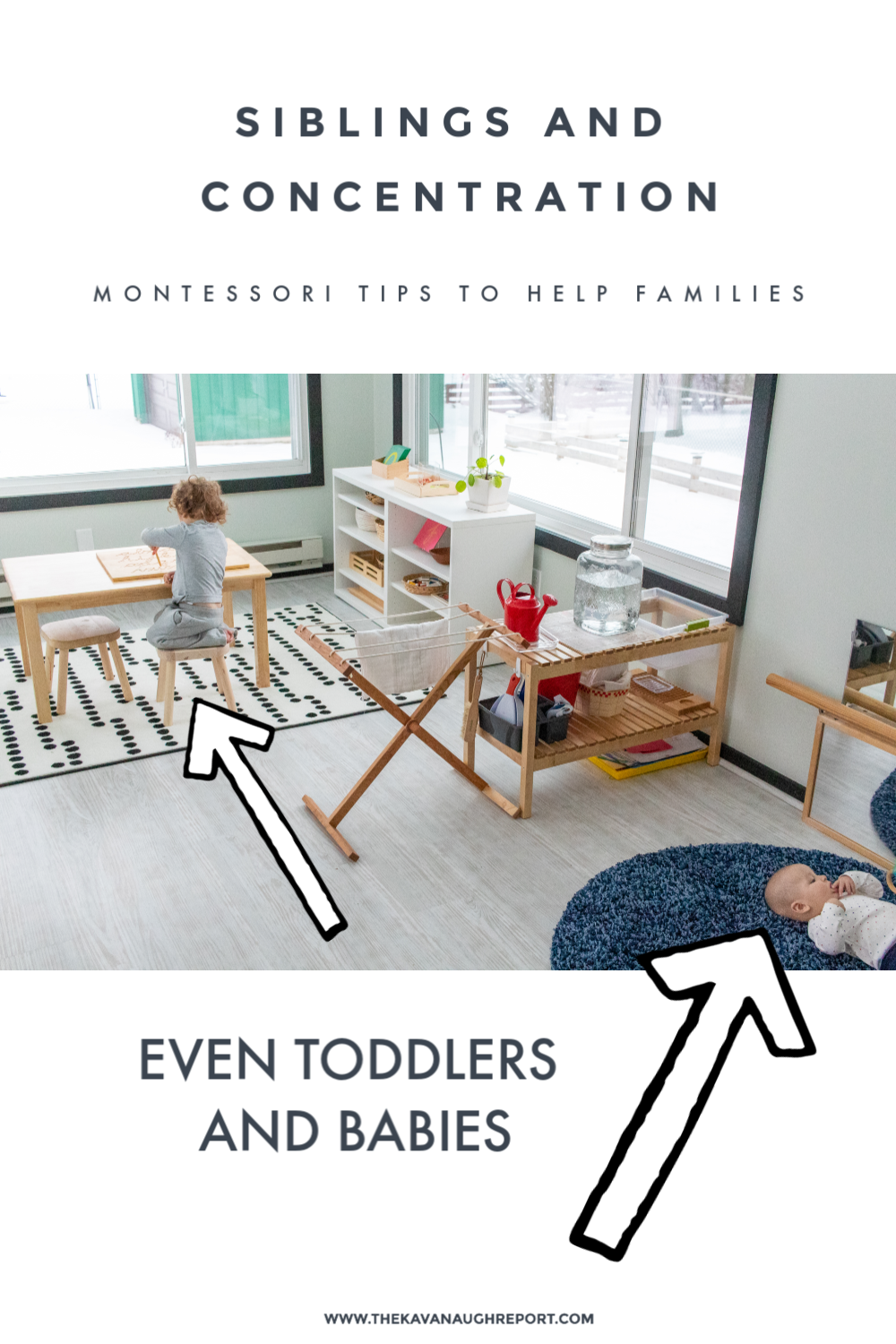 Some tips for protecting concentration when you have multiple kids in your Montessori home