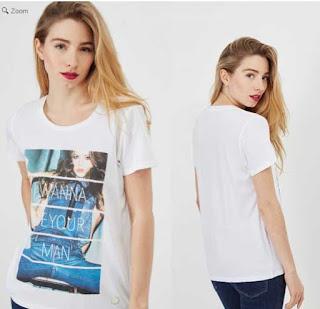 camiseta blanca para mujer